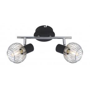 OSLO LAMPA SUFITOWA LISTWA 2X40W E14 CZARNY/CHROM