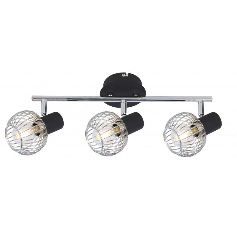 Lampy-sufitowe - oprawa ścienno-sufitowa ażurowa chrom 93-61850 oslo candellux firmy Candellux