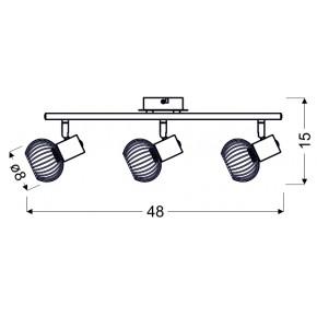 Lampy-sufitowe - oprawa ścienno-sufitowa ażurowa chrom 93-61850 oslo candellux