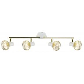 OSLO LAMPA SUFITOWA LISTWA 4X40W E14 BIAŁY/ZŁOTY