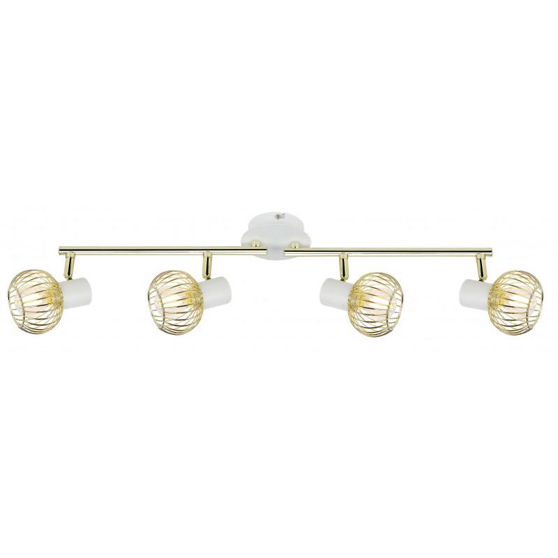 Lampy-sufitowe - lampa poczwórna biało-złota listwa 94-61812 oslo candellux firmy Candellux