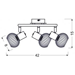 Lampy-sufitowe - czarno- chromowana lampa typu spirala 3xe14 98-61867 oslo candellux