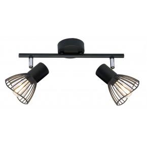 FLY LAMPA SUFITOWA LISTWA 2X40W E14 CZARNY