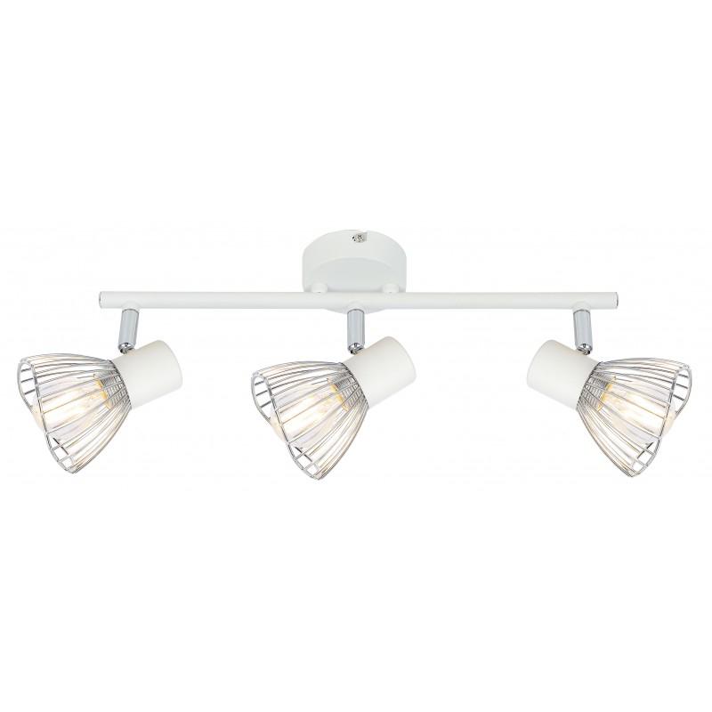 Lampy-sufitowe - lampa sufitowa - listwa biało chromowa 3x40w e14 fly 93-61973 candellux firmy Candellux