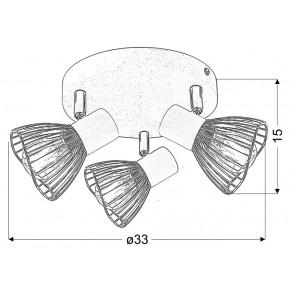 Lampy-sufitowe - delikatny plafon w kolorze biało chromowym 3x40w e14 fly 98-61980 candellux