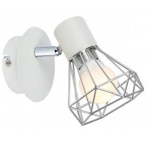 VERVE LAMPA KINKIET 1X40W E14 BIAŁY ABAŻUR CHROM