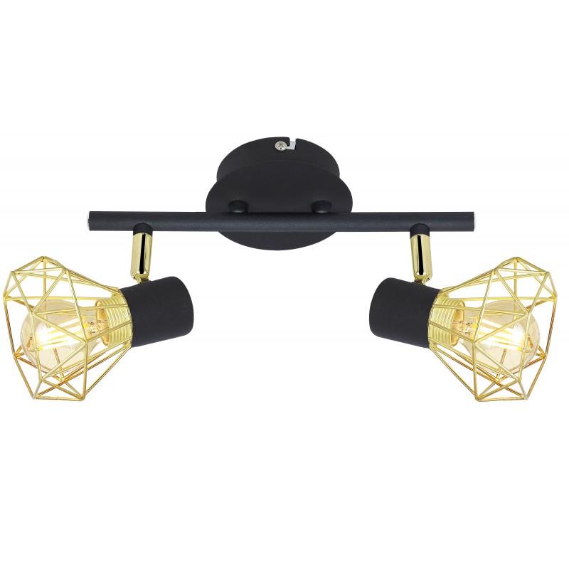 Lampy-sufitowe - lampa ścienna listwa czarno - złota 2x40w e14 verve 92-63175 candellux firmy Candellux