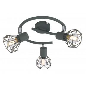 VERVE LAMPA SUFITOWA SPIRALA 3X40W E14 MATOWY SZARY