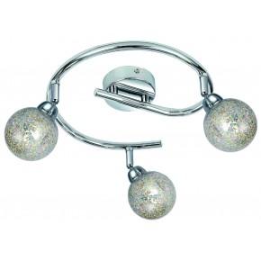 KALEIDOSCOPE LAMPA SUFITOWA SPIRALA 3X4W LED G9 CHROM