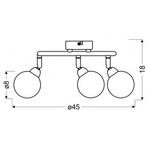 Lampy-sufitowe - lampa sufitowa na 3 żarówki w gwiadki g9 3x4w chrom kaleidoscope 98-61577 spirala candellux