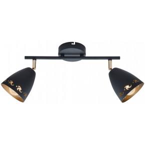 COTY LAMPA SUFITOWA LISTWA 2X40W E14 CZARNY
