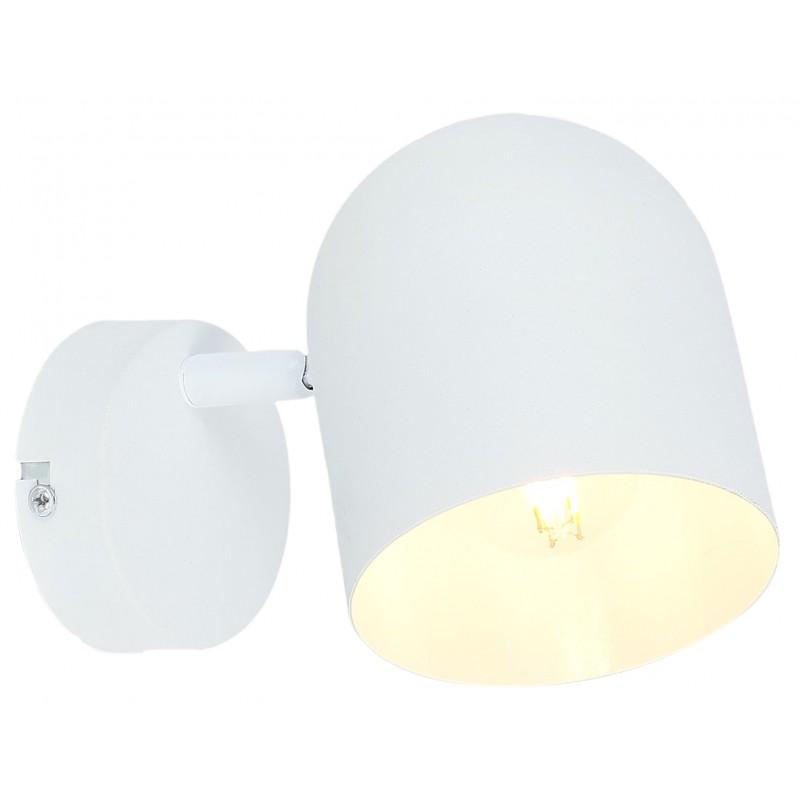 Kinkiety - biały kinkiet o ruchomym kloszu 1x40w e27 azuro 91-63243 candellux firmy Candellux