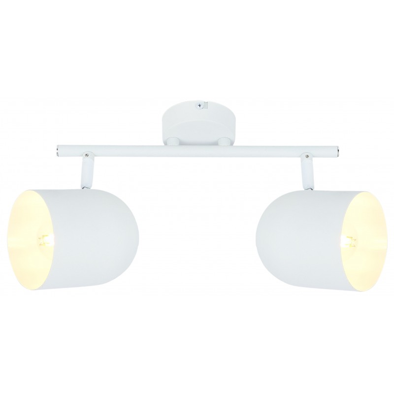 Lampy-sufitowe - podwójny spot sufitowy w kolorze klasycznej bieli 2x40w e27 azuro 92-63250 candellux firmy Candellux