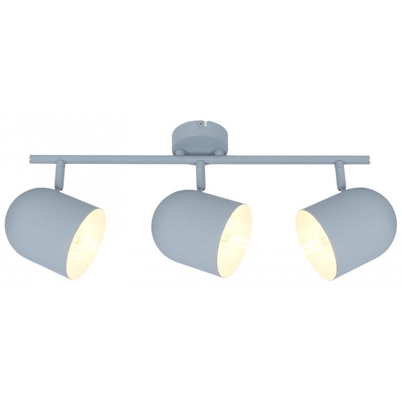 Lampy-sufitowe - szaro matowy spot oświetleniowy 3x40w e27 azuro 93-63229 candellux firmy Candellux