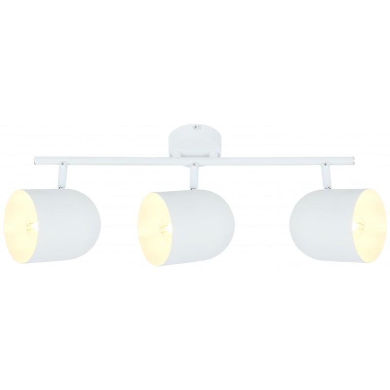 Lampy-sufitowe - biała lampa sufitowa listwa z ruchomymi kloszami 3x40w e27 azuro 93-63267 candellux firmy Candellux