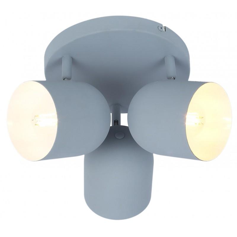 Lampy-sufitowe - potrójny spot sufitowy w modnym szarym macie 3x40w e27 azuro 98-63236 candellux firmy Candellux