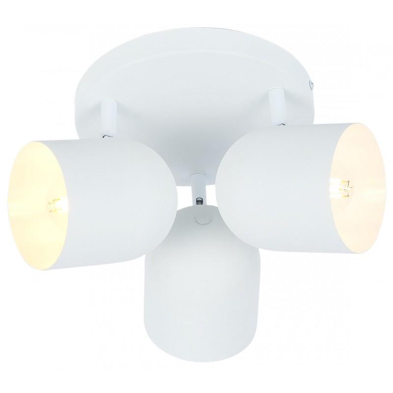 Plafony - biały plafon sufitowy potrójny 3x40w e27 azuro 98-63274 candellux firmy Candellux