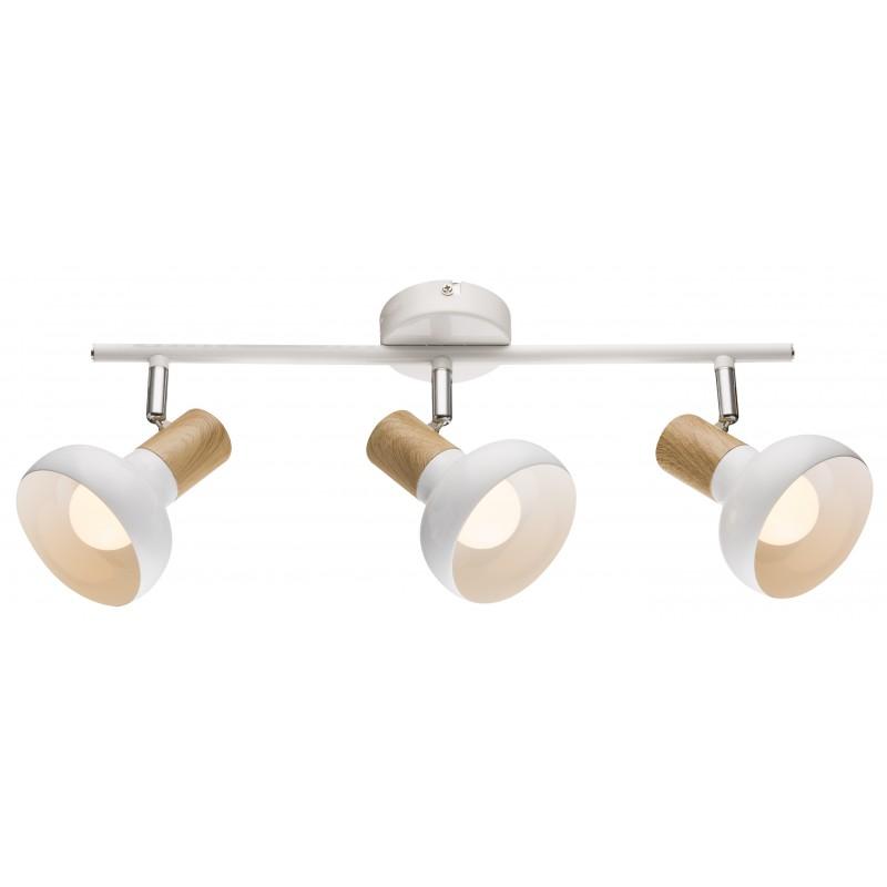 Lampy-sufitowe - trzypunktowa lampa sufitowa biała 3x40w e14 puerto 93-62673 candellux firmy Candellux