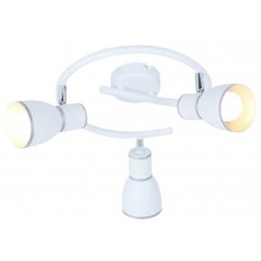 FIDO LAMPA SUFITOWA SPIRALA 3X40W E14 BIAŁY+CHROM