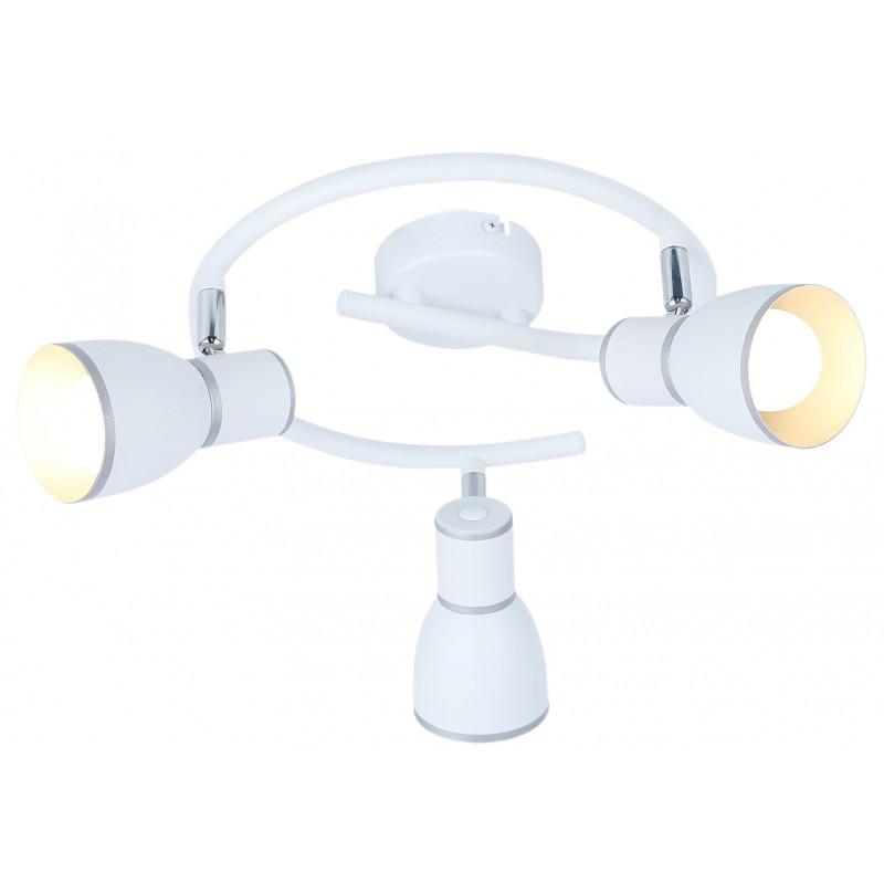 Lampy-sufitowe - lampa sufitowa z potrójnym źródłem światła e14 40w biały+chrom spirala fido 98-63380 candellux firmy Candellux