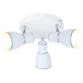 FIDO LAMPA SUFITOWA PLAFON 3X40W E14 BIAŁY+CHROM