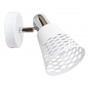 DISCOVERY LAMPA KINKIET 1X40W E14 CHROM/ BIAŁY