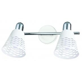 DISCOVERY LAMPA SUFITOWA LISTWA 2X40W E14 CHROM/BIAŁY
