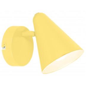 Kinkiety - żółty kinkiet metalowy stożek e14 40w 91-68774 amor candellux