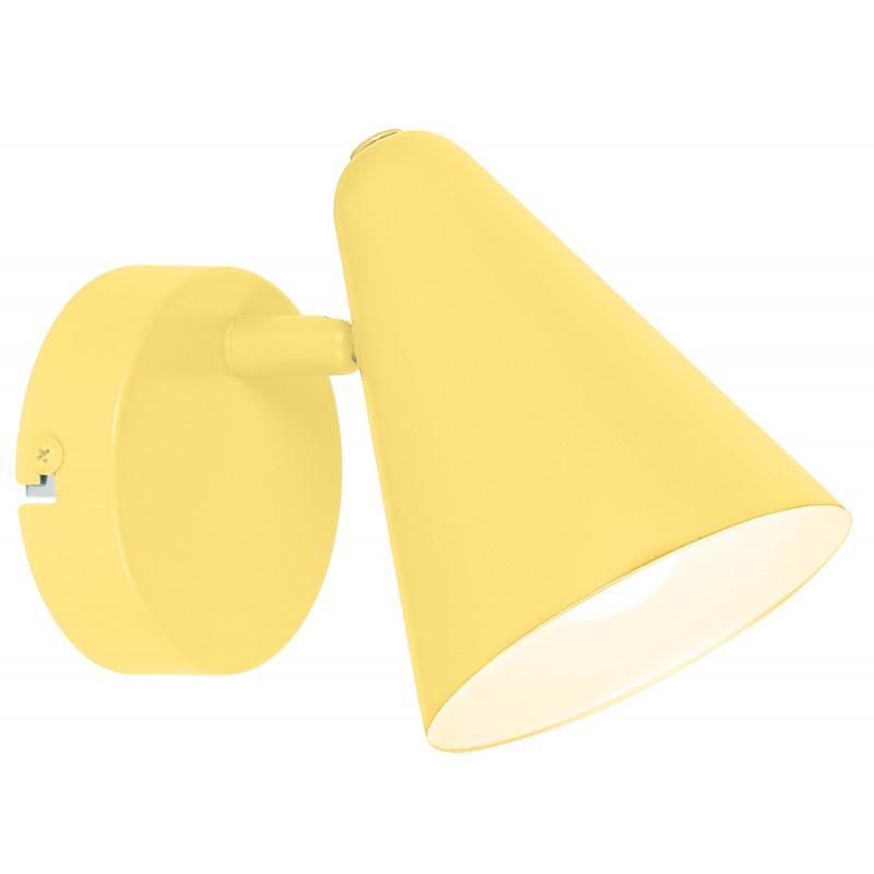Kinkiety - żółty kinkiet metalowy stożek e14 40w 91-68774 amor candellux firmy Candellux