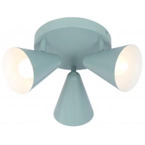 AMOR LAMPA SUFITOWA PLAFON 3X40W E14 SZARY MAT