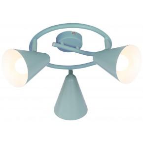 Lampy-sufitowe - lampa sufitowa potrójna szary mat na żarówki e14 3x40w spirala amor 98-63359 candellux