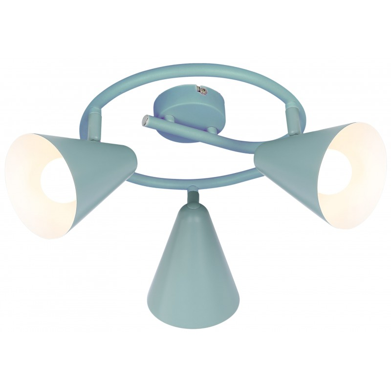 Lampy-sufitowe - lampa sufitowa potrójna szary mat na żarówki e14 3x40w spirala amor 98-63359 candellux firmy Candellux