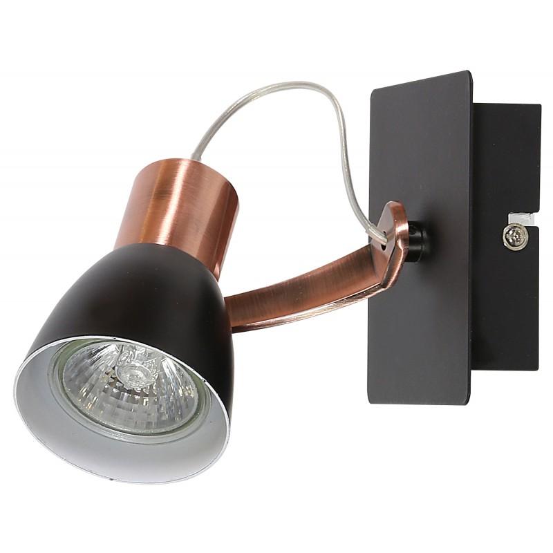 Kinkiety - lampa ścienna miedź + czarny mat 1x50w gu10 markus 91-35554-m candellux firmy Candellux