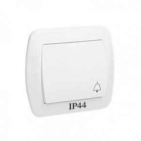 Biały przycisk dzwonek bryzgoszczelny AD1B/11 Simon Akord Kontakt Simon