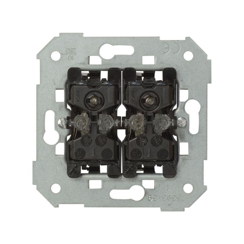 Wylaczniki-podwojne - przycisk podwójny zwierny z podświetleniem 10ax 75393-39 simon 82 kontakt-simon firmy Kontakt-Simon