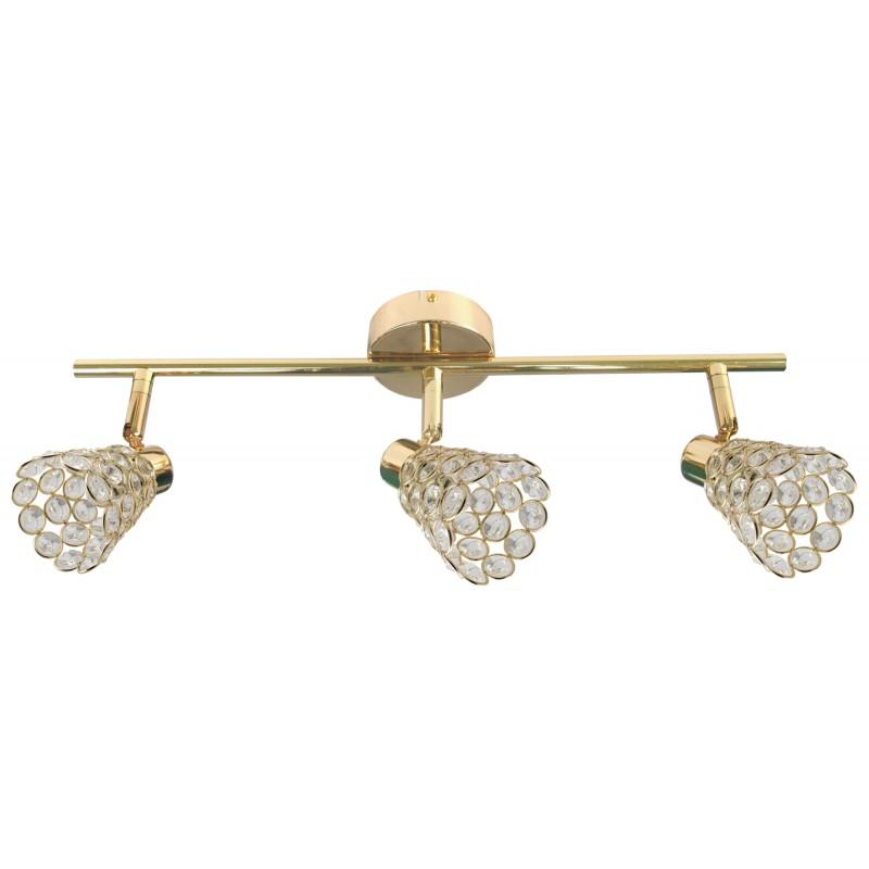 Oswietlenie - glossy lampa sufitowa listwa 3x40w g9 mosiądz 93-00453 candellux firmy Candellux