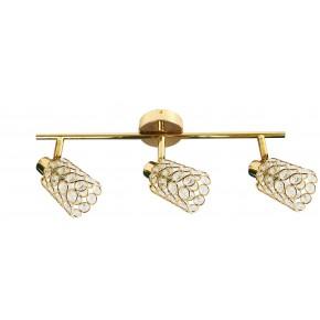 Lampy-sufitowe - złota listwa oświetleniowa zdobiona kryształkami york 93-70111 candellux