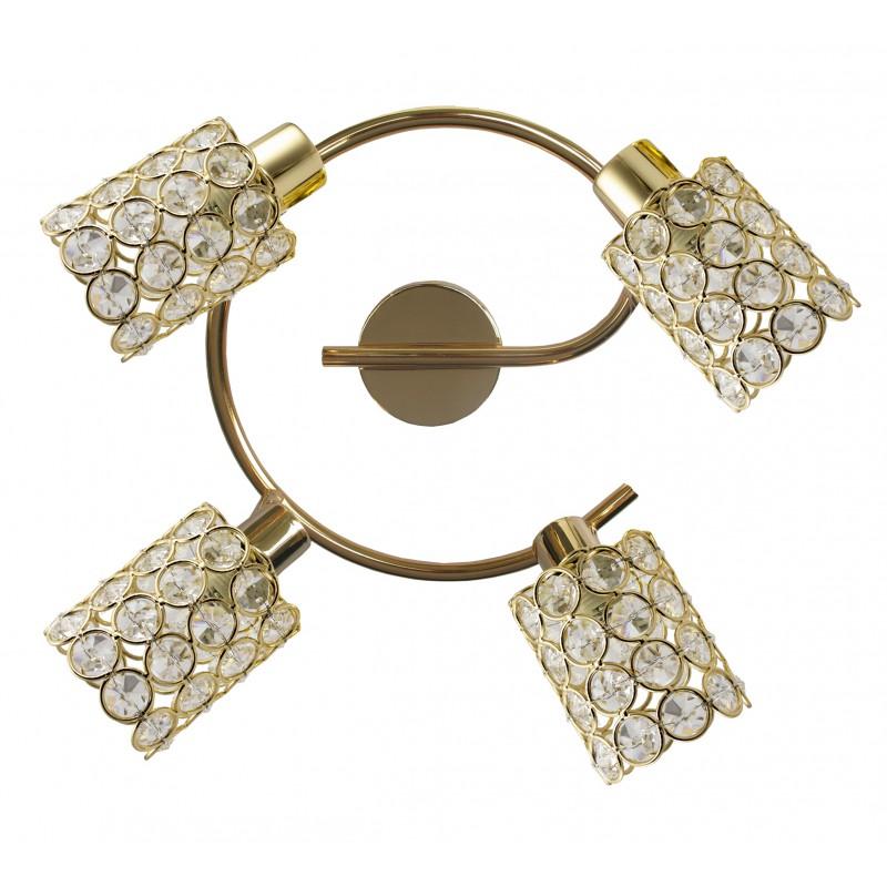 Lampy-sufitowe - kryształowa lampa sufitowa ze złotymi elementami york 98-07230 candellux firmy Candellux
