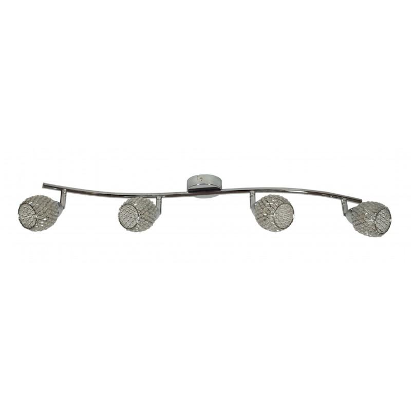 Lampy-sufitowe - oprawa sufitowo-ścienna poczwórna chrom kryształowe klosze clear 94-06882 candellux firmy Candellux