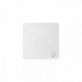 Biały klawisz pojedynczy z piktogramem dzwonek 82017-30 Simon 82 Kontakt Simon