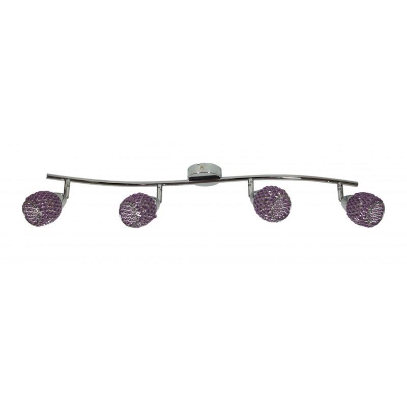 Lampy-sufitowe - listwa oświetleniowa poczwórna fiolet g9 clear 94-06929 candellux firmy Candellux