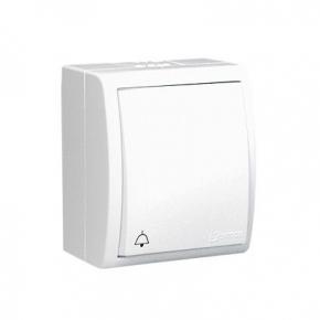 Biały przycisk dzwonek z podświetleniem bryzgoszczelny AQD1L/11 Simon-Aquarius Kontakt-Simon