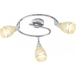 JUBILAT LAMPA SUFITOWA SPIRALA 3X10W E14 LED CHROM