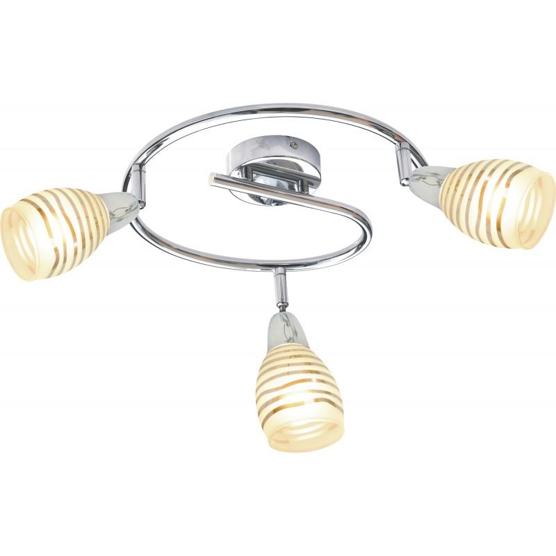 Lampy-sufitowe - lampa potrójna sufitowa w kolorze chromu 3xe14 10w led spirala jubilat 98-55705 candellux firmy Candellux