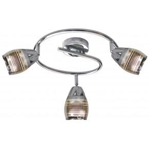 MILTON LAMPA SUFITOWA SPIRALA 3X10W E14 LED CHROM