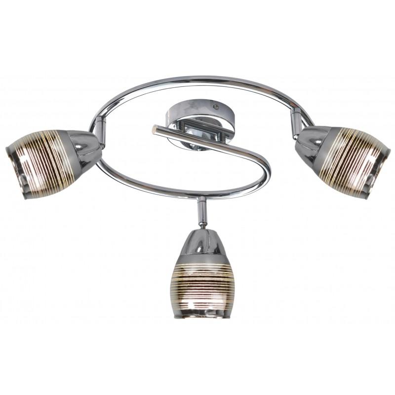 Lampy-sufitowe - potrójna lampa sufitowa na żarówki e14 chromowana 10w spirala milton 93-61300 candellux firmy Candellux