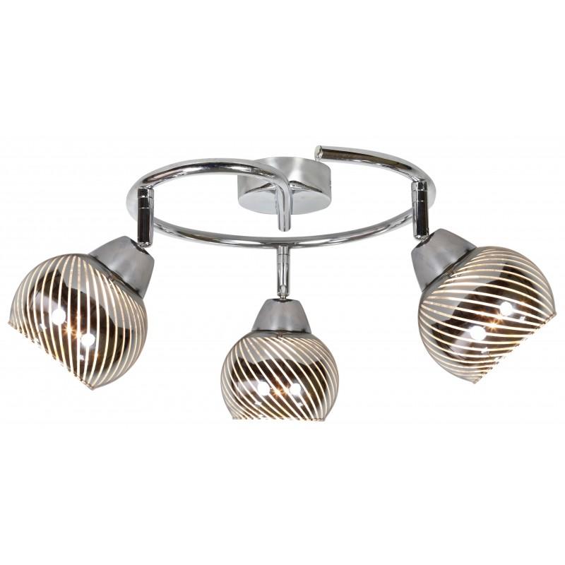 Lampy-sufitowe - lampa sufitowa spirala chromowana 3xe14 10w fort 98-62833 candellux firmy Candellux