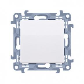 Przycisk pojedynczy zwierny bez piktogramu biały CP1.01/11 Simon 10 Kontakt-Simon
