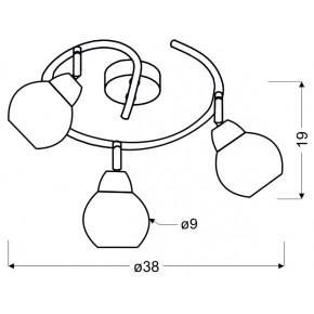Lampy-sufitowe - lampa sufitowa spirala chromowana 3xe14 10w fort 98-62833 candellux