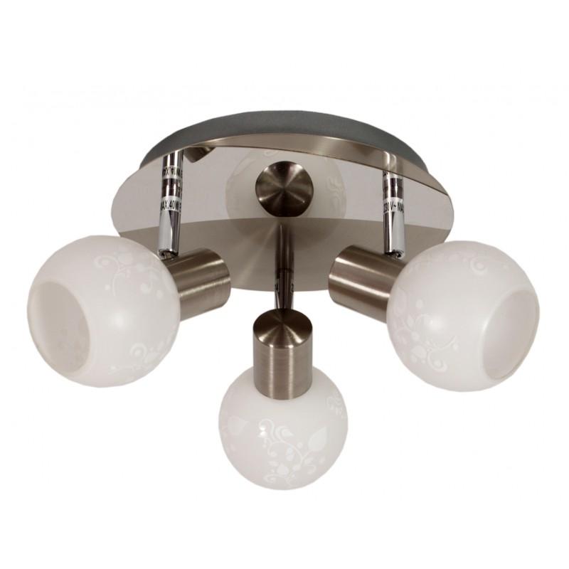 Lampy-sufitowe - satynowy plafon z trzema kloszami 3x40w e14 avila 98-10070 candellux firmy Candellux